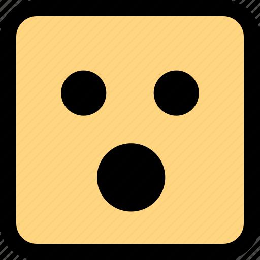 emotion, face, shocked icon