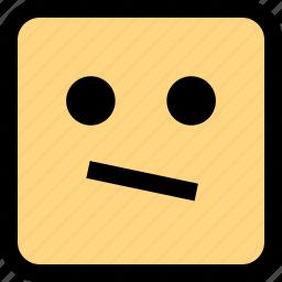emoji, emotion, hmm, think icon