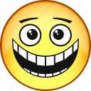 comic, emoji, emoticon, emotion, face, laughter, smile icon