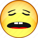 emoji, emoticon, emotion, face, fun, sleepy, smile icon