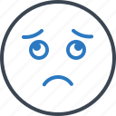 disinterested, dispirited, indifferent, sad icon