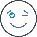 expression, eyelid, signals, wink icon