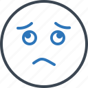 boredom, gloomdoldrums, sadness, worried icon