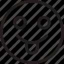 emoji, emoticons, feelings, smiley, smileys, tongue icon