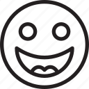 emoji, emoticons, feelings, smiley, smileys, stupid icon