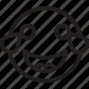 emoji, emoticons, feelings, laughing, smileys icon