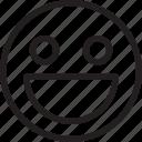 emoji, emoticons, feelings, happy, smile, smileys icon