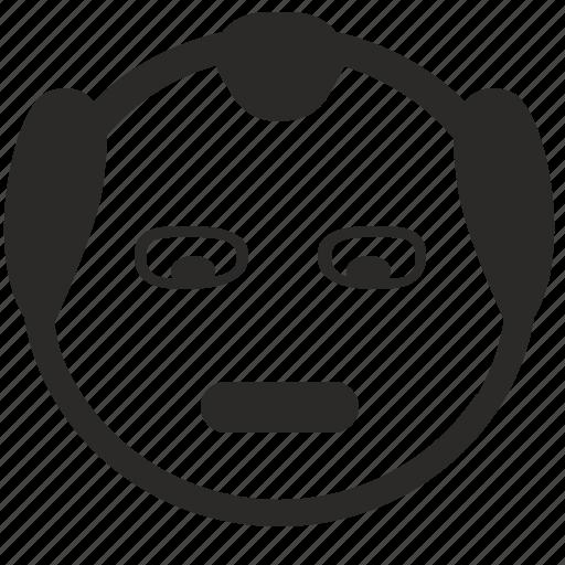 china, chinese, face, head, ninja, smiley icon