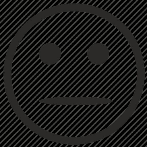 doubt, face, smile, smiley icon