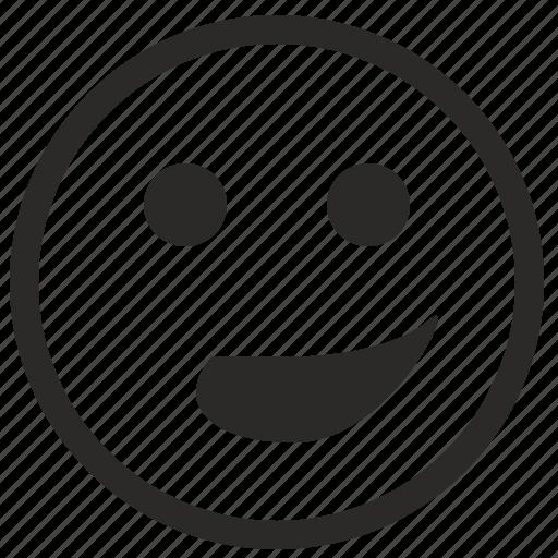 deep, face, grin, irony, smile icon
