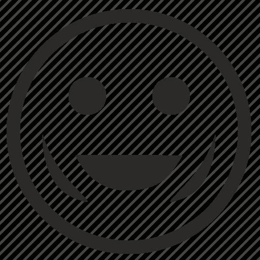 face, happy, smile, smiley icon