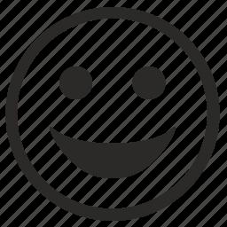 face, happy, lucky, smile, smiley icon