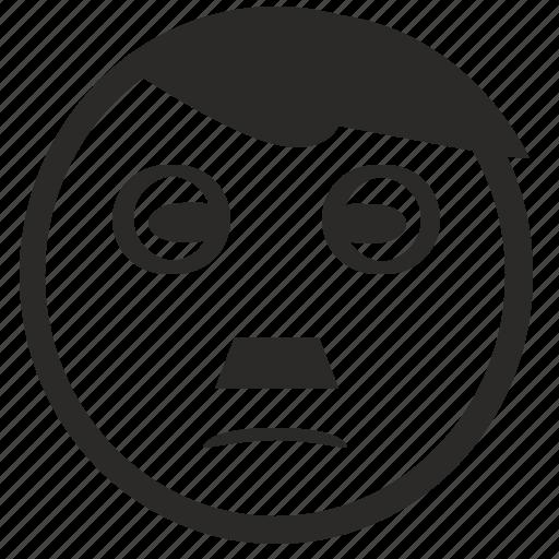 dictator, face, hitler, nazi, smiley icon