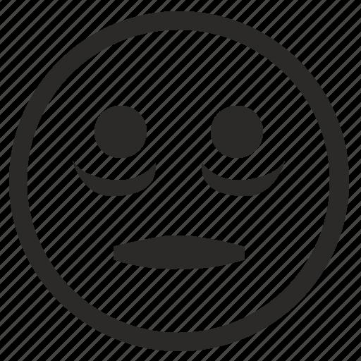 face, ill, illness, smile, smiley icon