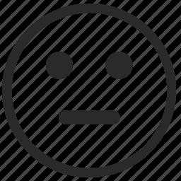 face, poker, quiet, smiler icon