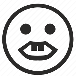 face, horror, smile, smiley, ugly icon