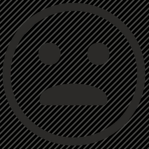 face, smile, unhappy icon