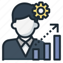 business, grow up, growth, improve, skills, up icon