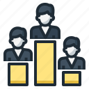 bar, businessman, graph, level, performance, ranking