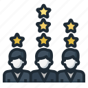 ranking, rating, star icon
