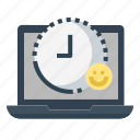 happy, hour, job, satisfaction, time, work, working icon