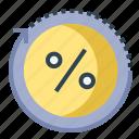 chart, circle, discount, percent, progress, statistic