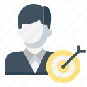 businessman, goal, set, strategy, target icon