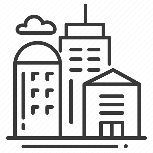 building, company, office, work place icon