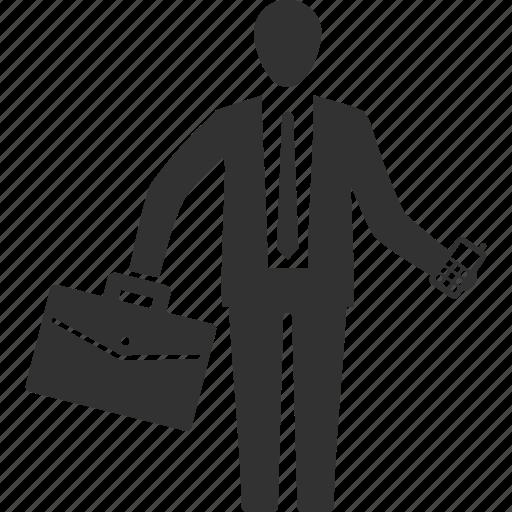 briefcase, business, businessman icon