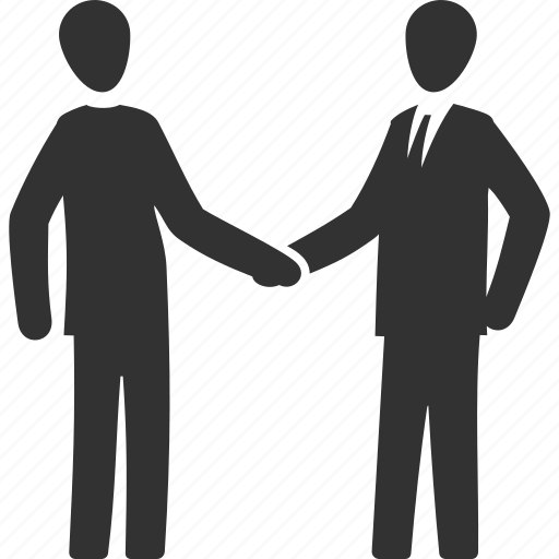 business deal, handshake, interview, partnership icon