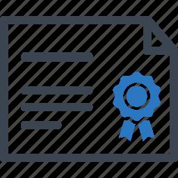 achievement, award, diploma, prize icon