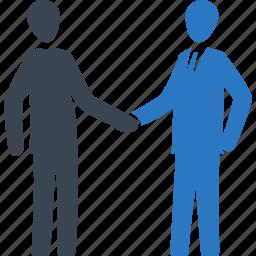 agreement, business deal, handshake, partnership icon