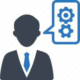 business, gear, plan, solution icon