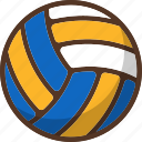ball, beach, sport, summer, volleyball icon