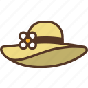 beach, hat, summer icon