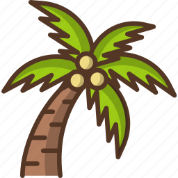 beach, palm, tree icon
