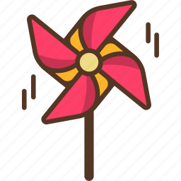 summer, turbine, weathercock, wind icon