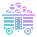 coal, combustible, ecology, environment, wagon icon
