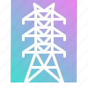 electric, electrical, energy, pole, wire icon