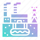 ecology, energy, geothermal, plant, power icon