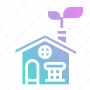 ecology, energy, environment, green, house icon