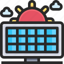 panels, power, solar icon