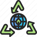 eco, ecology, power, recycle icon