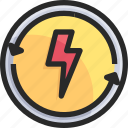 factory, industry, power, thunder icon