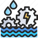 hydroelectricity, power icon