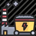 coal, industry, power icon