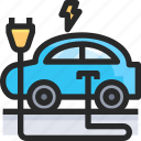 car, charge, electric, energy, power icon