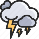 lightning, cloud, power