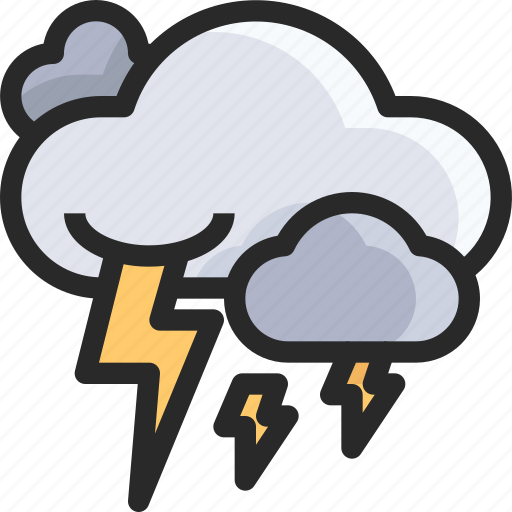 cloud, lightning, power icon