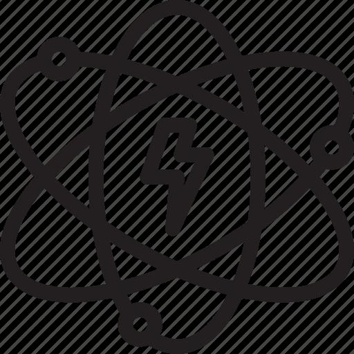 Atom, atomic, energy, power icon - Download on Iconfinder